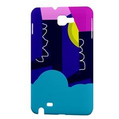 Walking on the clouds  Samsung Galaxy Note 1 Hardshell Case