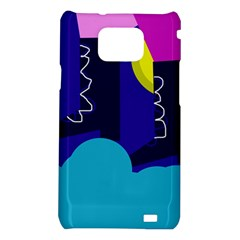 Walking on the clouds  Samsung Galaxy S2 i9100 Hardshell Case
