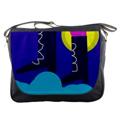 Walking on the clouds  Messenger Bags