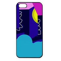 Walking on the clouds  Apple iPhone 5 Seamless Case (Black)