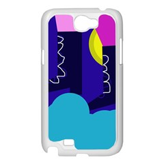 Walking on the clouds  Samsung Galaxy Note 2 Case (White)