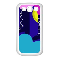 Walking on the clouds  Samsung Galaxy S3 Back Case (White)