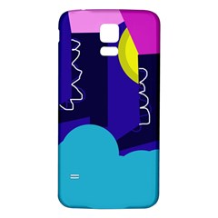 Walking on the clouds  Samsung Galaxy S5 Back Case (White)