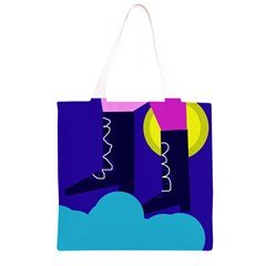 Walking on the clouds  Grocery Light Tote Bag