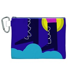 Walking on the clouds  Canvas Cosmetic Bag (XL)