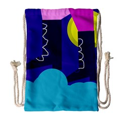 Walking on the clouds  Drawstring Bag (Large)