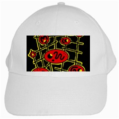 Red and yellow hot design White Cap