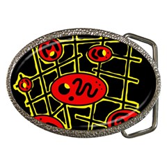 Red and yellow hot design Belt Buckles