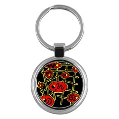 Red and yellow hot design Key Chains (Round)