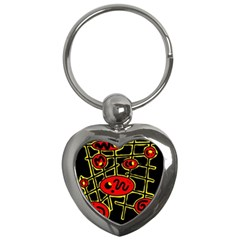 Red and yellow hot design Key Chains (Heart)