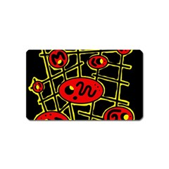 Red and yellow hot design Magnet (Name Card)