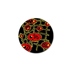 Red and yellow hot design Golf Ball Marker (10 pack)