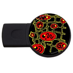 Red and yellow hot design USB Flash Drive Round (1 GB)