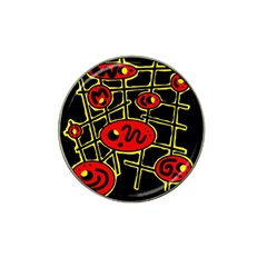 Red and yellow hot design Hat Clip Ball Marker (10 pack)