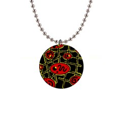 Red and yellow hot design Button Necklaces