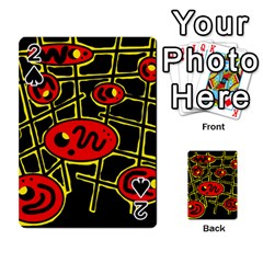 Red and yellow hot design Playing Cards 54 Designs