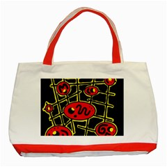 Red and yellow hot design Classic Tote Bag (Red)