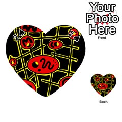 Red and yellow hot design Playing Cards 54 (Heart)