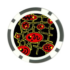 Red and yellow hot design Poker Chip Card Guards