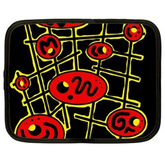Red and yellow hot design Netbook Case (Large)