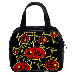 Red and yellow hot design Classic Handbags (2 Sides)