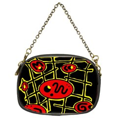 Red and yellow hot design Chain Purses (One Side)
