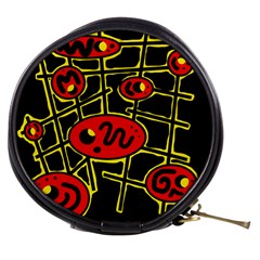 Red and yellow hot design Mini Makeup Bags