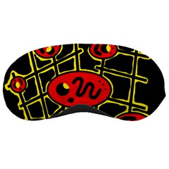 Red and yellow hot design Sleeping Masks