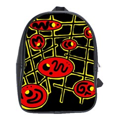 Red and yellow hot design School Bags(Large)