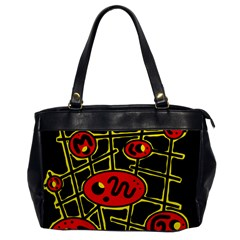 Red and yellow hot design Office Handbags