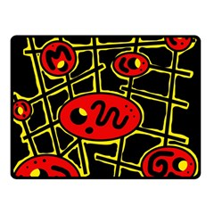 Red and yellow hot design Fleece Blanket (Small)
