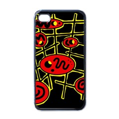 Red and yellow hot design Apple iPhone 4 Case (Black)