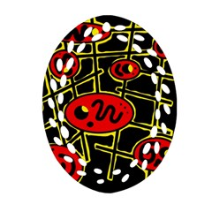 Red and yellow hot design Ornament (Oval Filigree)