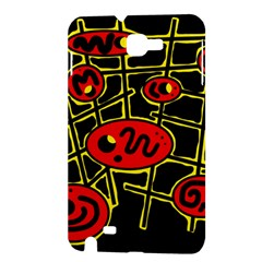 Red and yellow hot design Samsung Galaxy Note 1 Hardshell Case