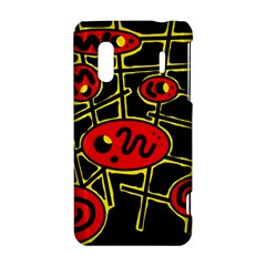 Red and yellow hot design HTC Evo Design 4G/ Hero S Hardshell Case
