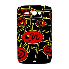 Red and yellow hot design HTC ChaCha / HTC Status Hardshell Case
