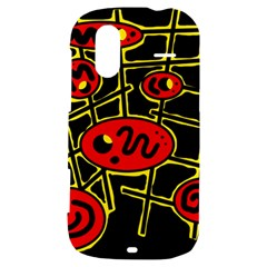 Red and yellow hot design HTC Amaze 4G Hardshell Case