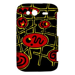 Red and yellow hot design HTC Wildfire S A510e Hardshell Case