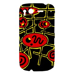 Red and yellow hot design HTC Desire S Hardshell Case