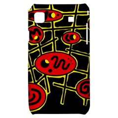 Red and yellow hot design Samsung Galaxy S i9000 Hardshell Case