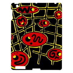 Red and yellow hot design Apple iPad 3/4 Hardshell Case
