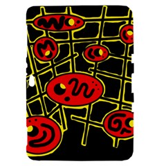 Red and yellow hot design Samsung Galaxy Tab 8.9  P7300 Hardshell Case