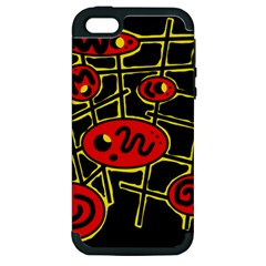 Red and yellow hot design Apple iPhone 5 Hardshell Case (PC+Silicone)