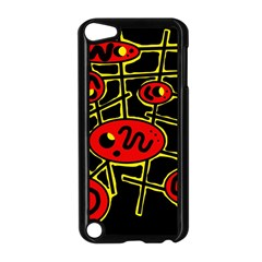 Red and yellow hot design Apple iPod Touch 5 Case (Black)