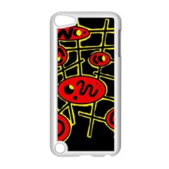 Red and yellow hot design Apple iPod Touch 5 Case (White)
