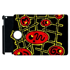 Red and yellow hot design Apple iPad 2 Flip 360 Case