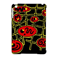 Red and yellow hot design Apple iPad Mini Hardshell Case (Compatible with Smart Cover)