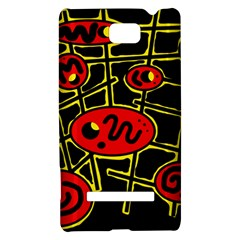 Red and yellow hot design HTC 8S Hardshell Case