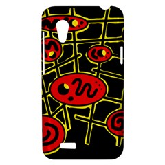 Red and yellow hot design HTC Desire VT (T328T) Hardshell Case