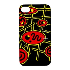 Red and yellow hot design Apple iPhone 4/4S Hardshell Case with Stand